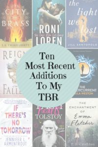 Top Ten Tuesday: 10 Books That I've Recently Added To My TBR List!